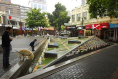 The second Stewart fountain, each tile was hand painted by children.Christchurch, New Zealand.