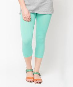 Look at this Caralase Mint Capri Leggings on #zulily today!