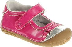 Stride Rite SRT SM Buttercup - Pink/Silver Leather with FREE Shipping & Returns. The SRT SM Buttercup Mary Jane features rounded edges to decrease stumbles