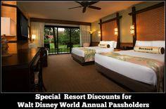 Disney Resort Discounts for Walt Disney World Annual Passholders #disneyworld #DisneyResort
