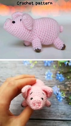 cute crochet CROCHET PIG IN PDF FORMAT! This is a listing for the pattern, not the finished toy! Amigurumi pig pattern is in PDF format pages and includes detailed instructions and man Crochet Pig, Crochet Pattern Free, Pattern Cute, Crochet Elephant, Crochet Animal Patterns, Stuffed Animal Patterns, Crochet Patterns Amigurumi, Learn To Crochet, Cute Crochet