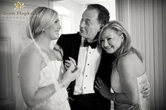 The Bride and Her Parents- Black and White Photo #wedding #southernwedding