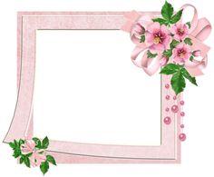 Cute Pink Transparent Photo Frame with Flowers. Vintage Diy, Vintage Labels, Cute Frames, Picture Frames, Cute Scrapbooks, Printable Frames, Frame Clipart, Borders And Frames, Paper Frames