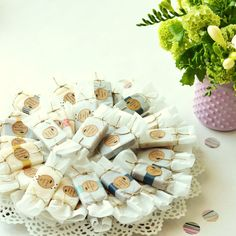 Wedding Soap Favors :: Wrapped Soap Favors by prunellasoap on Etsy