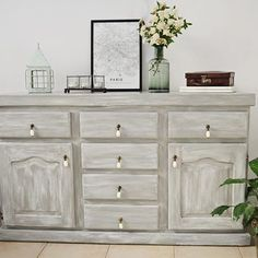 Una p tina que me enamor Vero Palazzo - Home Deco White Washed Furniture, Diy Home Decor, Room Decor, Living Area, Living Room, Bedroom Furniture Makeover, Chalk Paint, Interior And Exterior, Sweet Home