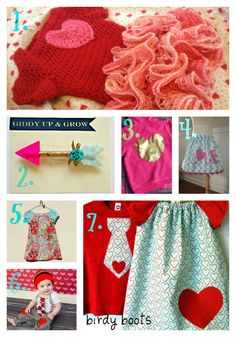 Kid's Valentine outfit picks from Etsy. #valentinesday