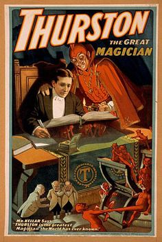 The Occult Posters Of Magician Harry Kellar with the Devil and minions 11