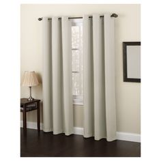 Montego Casual Grommet Top Curtain Panel Ivory 48 X63 No 918