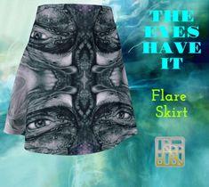 Fall Skirts, Printed Skirts, Flare Skirt, Artwork Prints, Knitted Fabric, Montreal, Mystic, Vibrant, Knitting