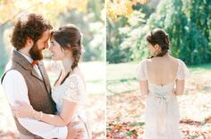 I really like this whole wedding..follow the pin and see what you think?     Autumn Rustic Wedding: Amy + Nate