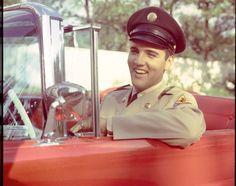 Elvis Presley in His Car | his military uniform - Elvis Week 2013: Rare photos of Elvis Presley ...