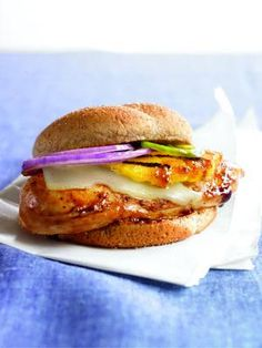 Grilled Chicken Sandwich with a Hawaiian Twist « Healthy Meals in Minutes