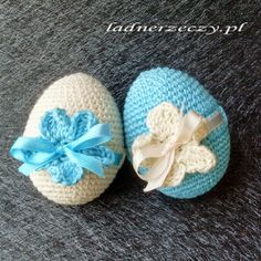 crocheted eggs / szydełkowe jaja Easter Crafts, Holiday Crafts, Easter Crochet Patterns, Egg Designs, Holiday Crochet, Fabric Yarn, Knit Or Crochet, Easter Eggs, Crochet Projects