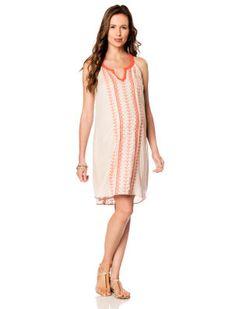 Aryn K Sleeveless Embroidery Maternity Dress