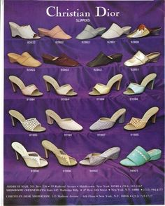 Slippers for Christian Dior in the 1980's