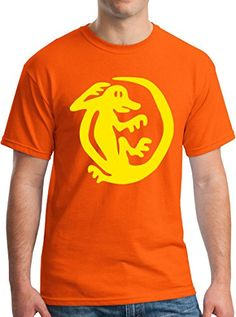 Legends of the Hidden Temple Iguana 90s Kids TV Show Group Tee M Orange ** Check this awesome product by going to the link at the image.