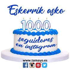 Estamos de celebración. Ya somos 1000. Eskerrik asko!! 1000 millones de gracias a los mil seguidores de @tamayopapeleria #Donostia #SanSebastian en instagram.
