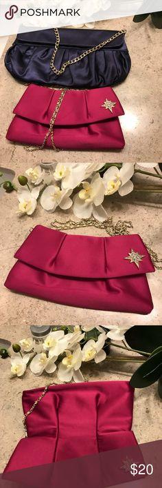 💕🦋Bundle 2 Pink &Blue Evening Purse! Beautiful Pink Kate Young  & Loft BLUE EVENING BAG PURSE Excellent condition! Used once time. LOFT Bags Satchels