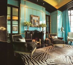 Image detail for -For the Home / turquoise living room   PinReach