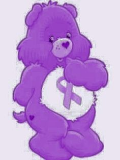 Cancer Awareness Bears - Purple Ribbon for Pancreatic Cancer