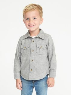Elbow-Patch Shirt for Toddler Boys