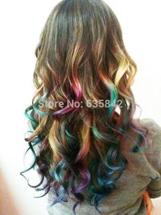 """Synthetic Hair Clip In Hair Extensions Curly Wavy 24"""" 60cm 110gram ..."""