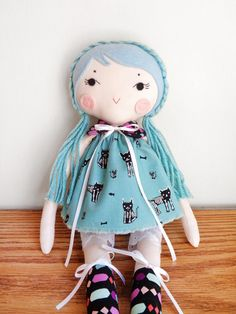 OOAK Cotton Doll  Handmade Cloth Doll  Beautiful by FluffandFauna