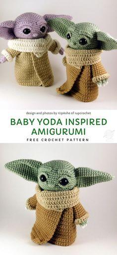 Baby Yoda Inspired Amigurumi Free Crochet Pattern - knitting is as easy as . , Baby Yoda Inspired Amigurumi Free Crochet Pattern - knitting is as easy as . Crochet Patterns Amigurumi, Amigurumi Doll, Crochet Dolls, Crochet Baby, Knitting Patterns, Crotchet, Knitted Toys Patterns, Crochet Beanie, Knitting Stitches