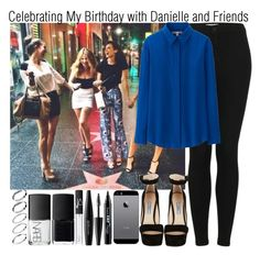 """Celebrating My Birthday with Danielle and Friends"" by elise-22 ❤ liked on Polyvore featuring Prada, Topshop, NYX, MAKE UP FOR EVER, Uniqlo, NARS Cosmetics and ASOS"