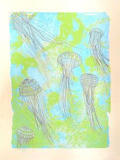 jellyfish screen print