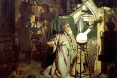 Image result for the alchemist discovering phosphorus, painting