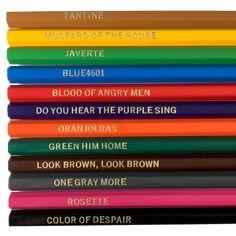 Bundle includes Les Misérables Colored Pencils and 4pck Coloring Pages. Perfect gift set Save $ when you bundle