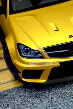 Mercedes Benz C63 AMG #Yellow