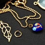 Jewelry Findings.  chain, jump rings, charms.