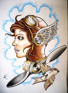 #female #aviator #girl #pilot