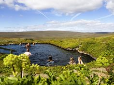 Laugarfell natural hot pool #iceland