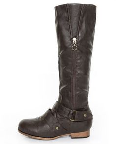 Wild Dive Tosca 19 Brown Belted Riding Boots $45.00 at lulus.com (and they just happen to be #vegan)