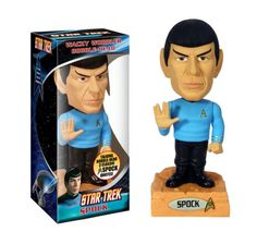 Spock - Star Trek (The Original Series) - Talking Wacky Wobbler Bobble-Head Star Trek Spock, Star Trek Voyager, Star Wars, Dr Spock, Geek Christmas Gifts, Star Trek Merchandise, Wacky Wobbler, Star Trek Captains, Video Clips