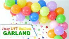 How To DIY a Balloon Garland - an easy craft tutorial project to make to help decorate parties, birthdays, weddings, photo-booths or any celebration! Photos Booth, Diy Photo Booth, Festive Crafts, Easy Crafts, Halloween Balloons, Diy Backdrop, Backdrops, Bird Party, Colourful Balloons