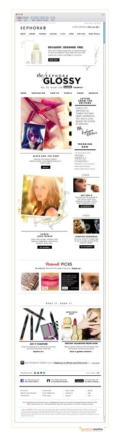 Brand: Sephora I Subject: News. Inspiration. How-to's. I Check out other great emails on http://www.newslettermonitor.com/