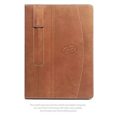 Front view of the best quality leather iPad Pro case from MacCase