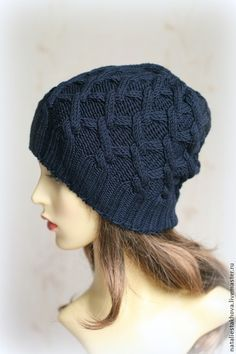 Шапки ручной работы. Ярмарка Мастеров - ручная работа Шапка вязаная Criss Cross Hat. Handmade.