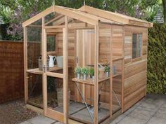 Half Shed & Half Greenhouse Make the most of your space by combining your greenhouse and shed Our Showcentre Request Brochure Greenhouse Shed Combo, Mini Greenhouse, Greenhouse Gardening, Diy Greenhouse Plans, Garden Buildings, Garden Structures, Mini Shed, Conservatory Garden, Potting Sheds