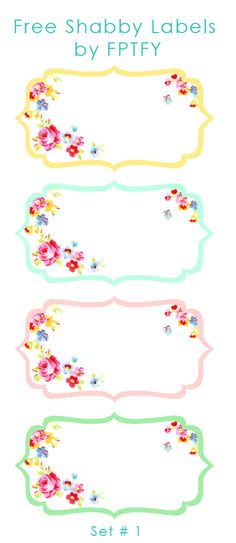 labels: Pretty Shabby Labels Set 1 - Free Pretty Things For You