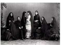 "Gothic Tea Society: ""The Seven Sutherland Sisters lived in Cambria, just outside of Lockport, NY. In the late 1800's they were considered world famous celebrities with their floor length long hair and beautiful singing voices. Their hair products made them millionaires; their spending made them paupers."""