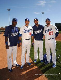 Dodgers Baseball Players Hanley Ramirez, Andre Ethier, Matt Kemp and Adrian Gonzalez.