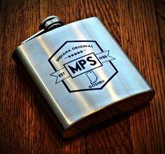 Groomsmen Gifts, Stainless Steel Engraved Flask, Personalized Flask Gift for Groomsmen, Custom Engraved Steel Flask