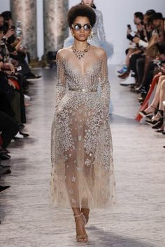 Elie Saab Explains His Egyptian-Inspired Spring '17 Couture Gown