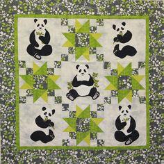 PandaMonium baby quilt pattern at Cheri Leffler Designs