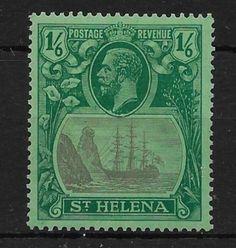 ST-Helena-sg107c-1927-1-6-grigio-e-verde-su-verde-con-Labbro-leporino-Rock-MTD-Nuovo-di-zecca